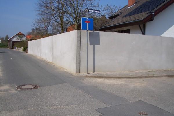 Gartenmauer ytong